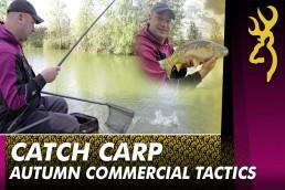 autumn carp pole fishing
